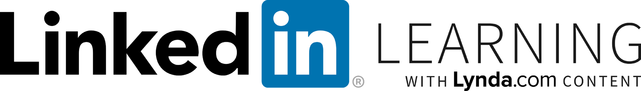 """LinkedIn Learning with Lynda.com content"" Logo"