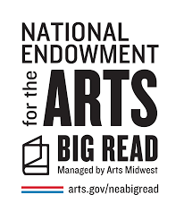 "Logo: National Endowment for the Arts ""Big Read"" managed by Arts Midwest"