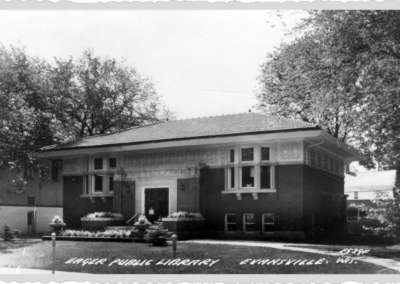 View of the library exterior in 1952
