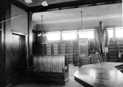 Interior of the library prior to opening in 1908