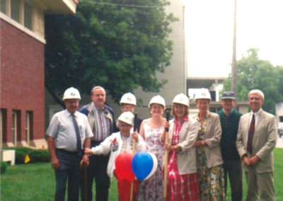 Photo of the 1995 Ground Breaking.