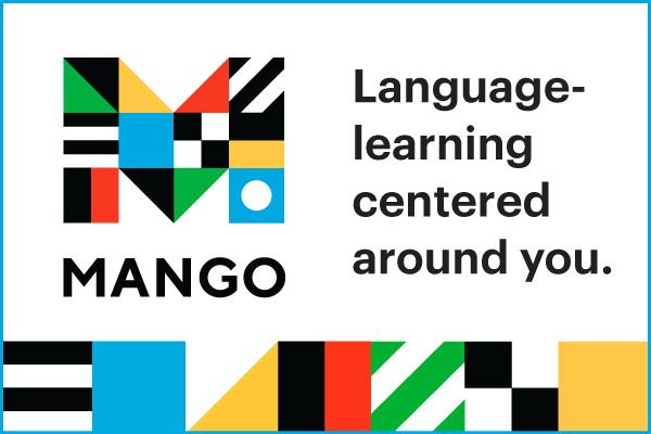 Logo: MANGO. Language Learning centered around you.