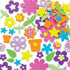 foam stickers of flowers and pots