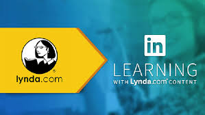 Lynda.com logo in an arrow pointing to LinkedIn Learning Logo