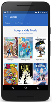 Hoopla Kids Mode screenshot