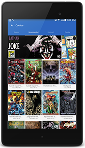 Hoopla Comics mobile screenshot