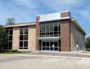 Exterior of Milton Public Library from High Street