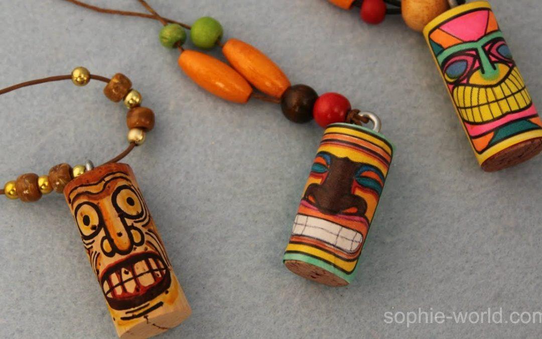 SPARK: Tiki Cork Necklaces