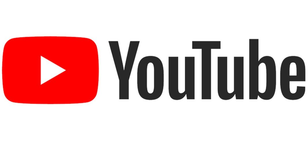 Red YouTube play logo with the word YouTube following it.