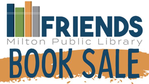 Friends of the Milton Public Library Book Sale graphic