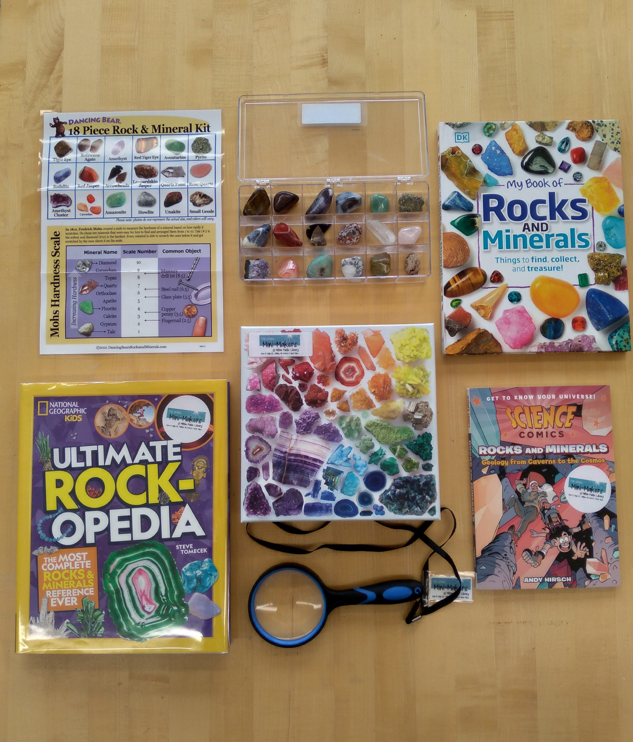 Contents of Rocks and Minerals Checkout Kit