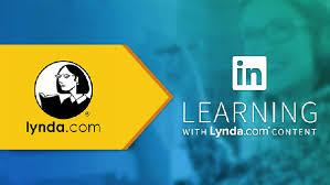Lynda.com logo in an arrow pointing to LinkedIn Learning Logo