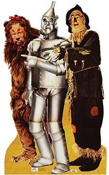 Wizard of Oz: Lion, Tin Man, Scarecrow