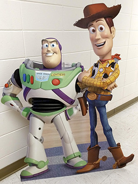 Buzz Lightyear and Woody from Toy Story