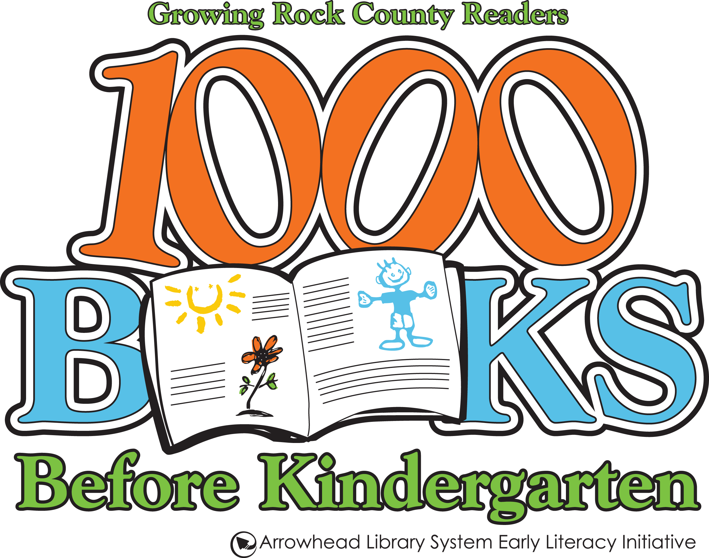 1000 Books Before Kindergarten Arrowhead Library System Logo