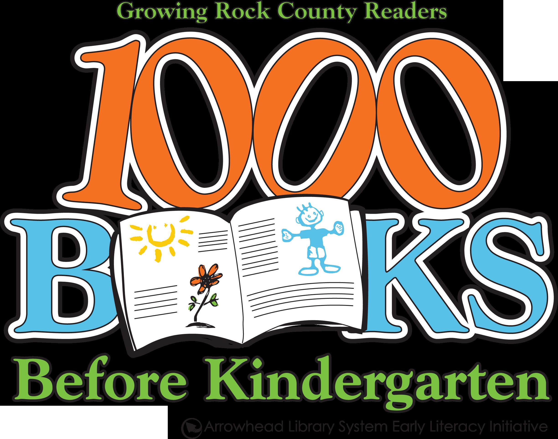 1000 Books Before Kindergarten Arrowhead Library System Logo