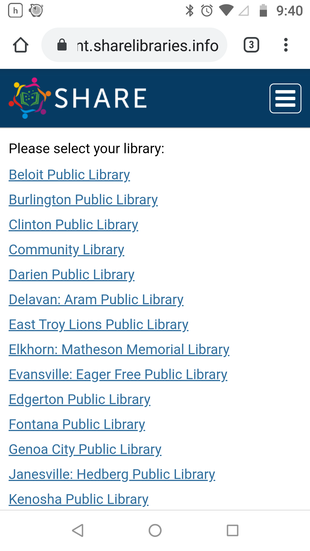 Mobile Screenshot: sharelibraries.info shows illustrating new responsive design